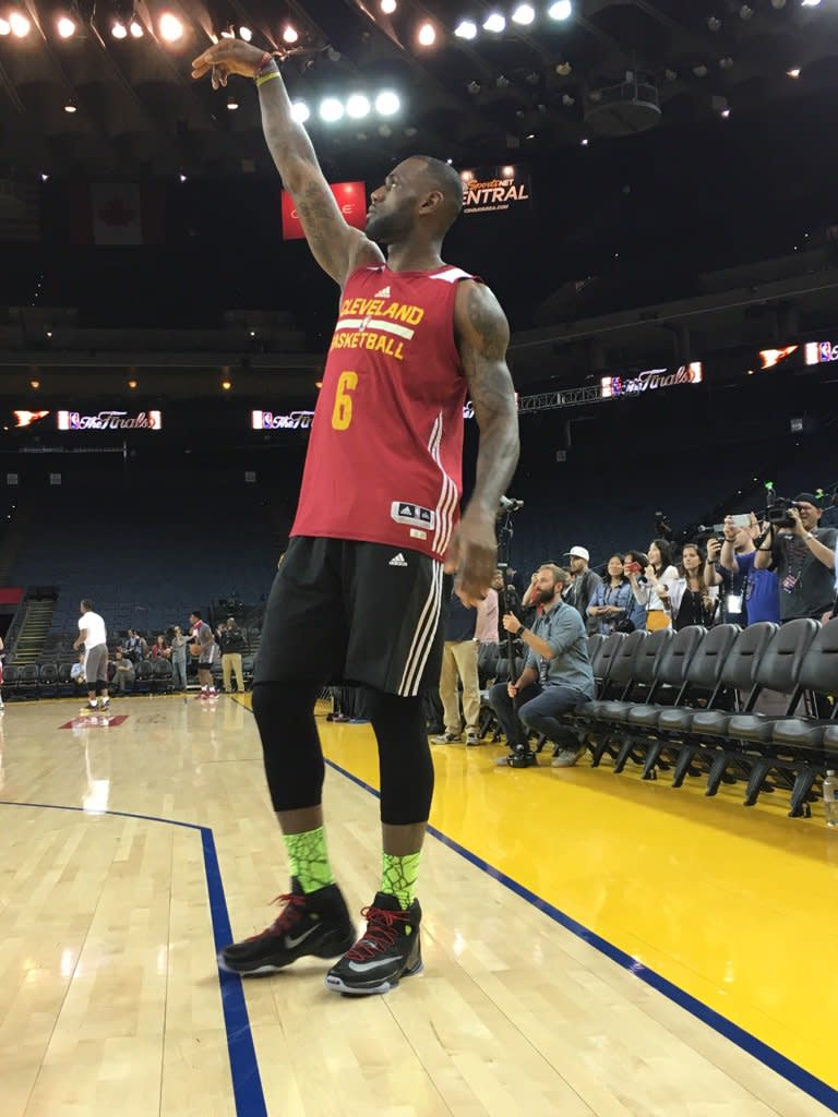 LeBron James Brought His Rookie Sneakers to the NBA Finals | Sole ...