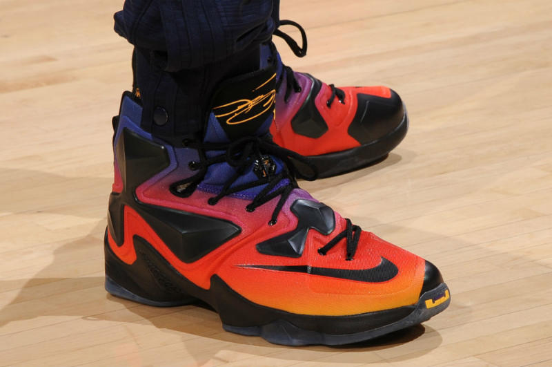LeBron James Wearing the