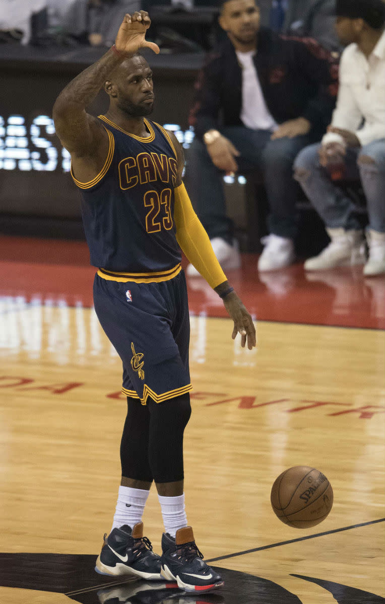 "LeBron James Wearing the ""LuxBron"" Nike LeBron 13 