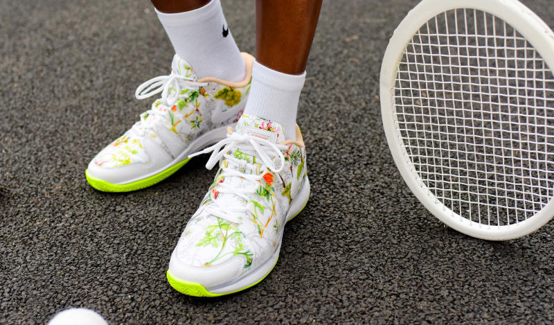 nikecourt liberty floral tennis sneakers