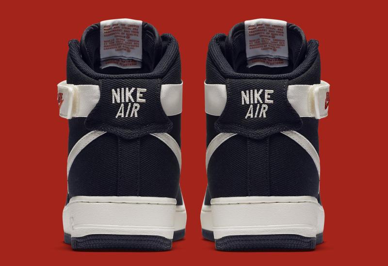Canvas Nike Air Force 1 High Black