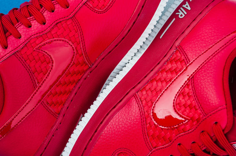 competitive price a4594 f7974 Nike Air Force 1 Low Woven Red (2)