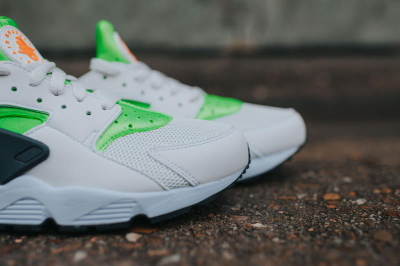 Nike Air Huarache Action Green/Vivid Orange (2)