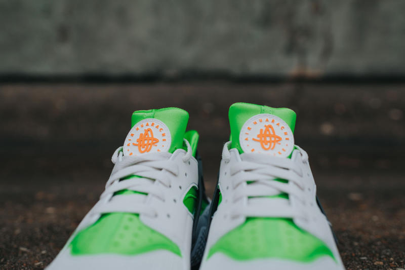 Nike Air Huarache Action Green/Vivid Orange (3)