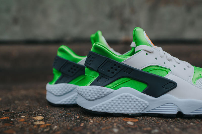 Nike Air Huarache Action Green/Vivid Orange (4)