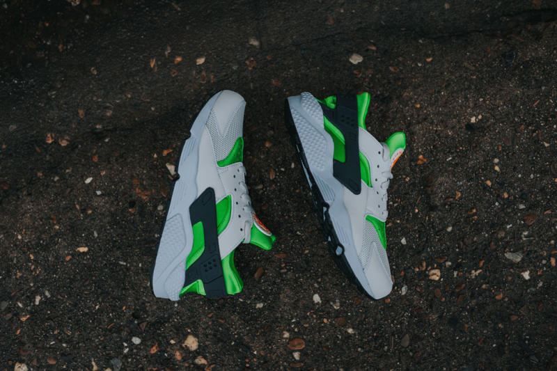 Nike Air Huarache Action Green/Vivid Orange (5)