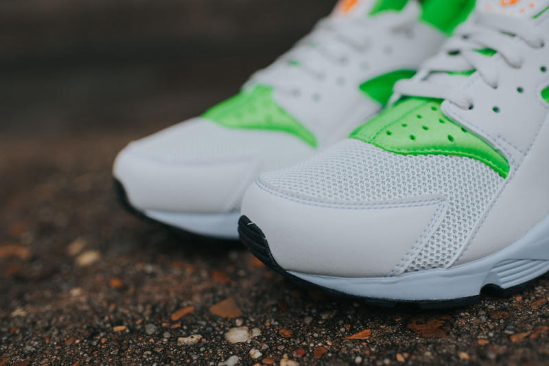 Nike Air Huarache Action Green/Vivid Orange (6)