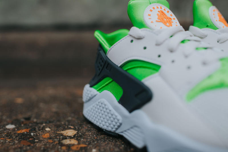 Nike Air Huarache Action Green/Vivid Orange (7)