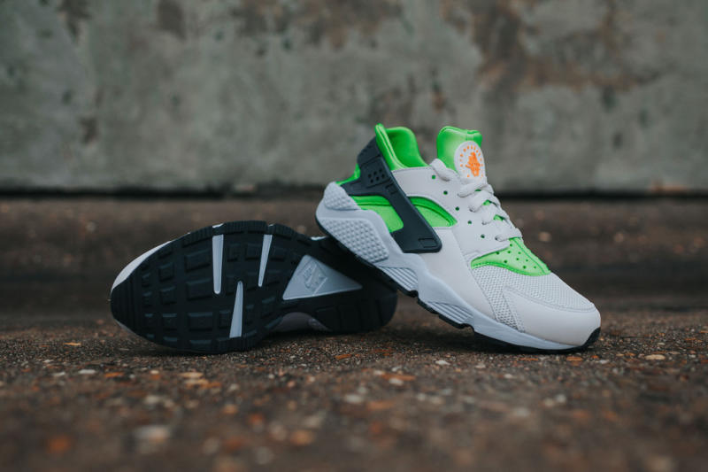Nike Air Huarache Action Green/Vivid Orange (8)