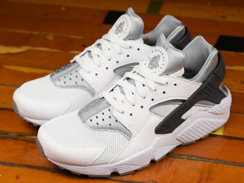 Nike Air Huarache White/Wolf Grey,Dark Grey 318429,103 (4)