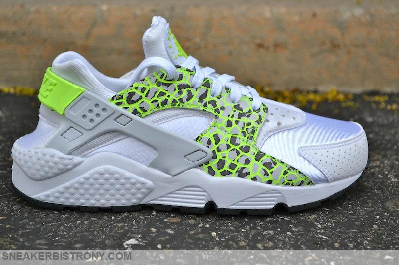 nike huarache womens green