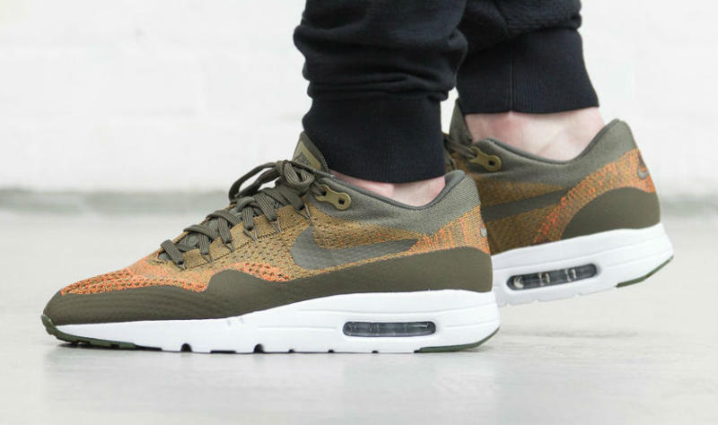 nike air max 1 ultra flyknit olive sole collector. Black Bedroom Furniture Sets. Home Design Ideas