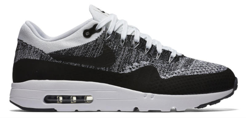 new product 96bec c1a69 Nike Air Max 1 Ultra Flynit WhiteBlack (2)