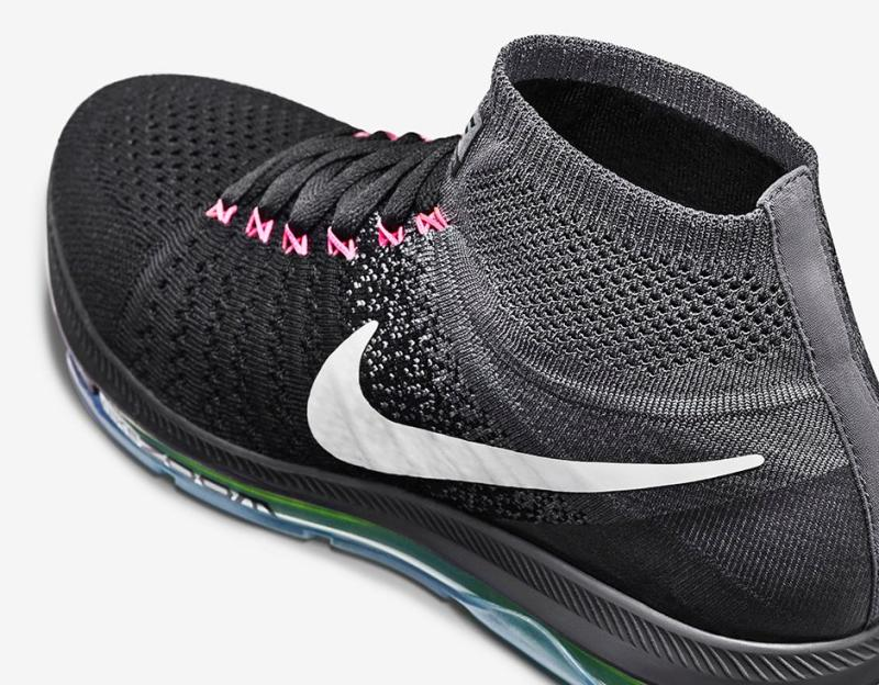 Nike Zoom All Out Flyknit Release Date  06 10 16. Color  Black Cool  Grey Volt White Style    844134-002. Price   200 16a5117a1053