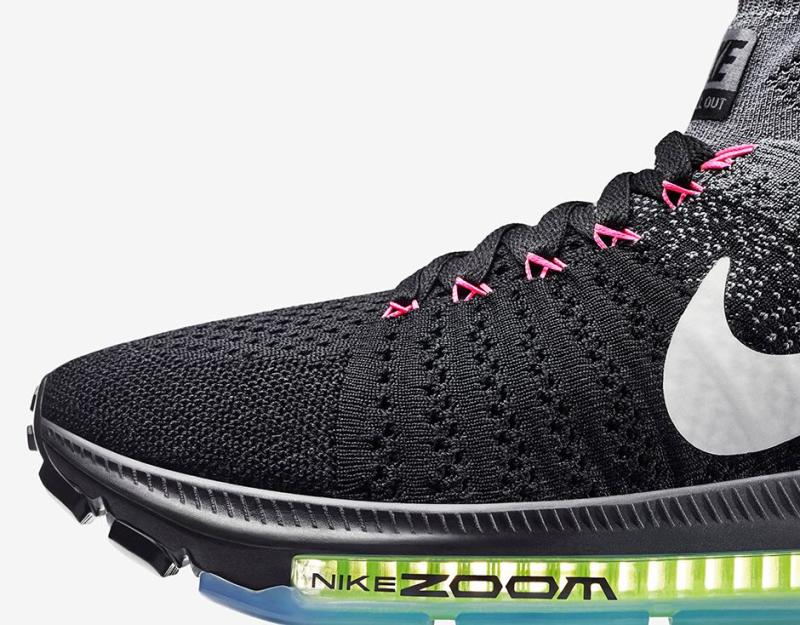 1b6e107f15fa Nike Zoom All Out Flyknit Release Date  06 10 16. Color  Black Cool Grey  Volt White Style    844134-002. Price   200