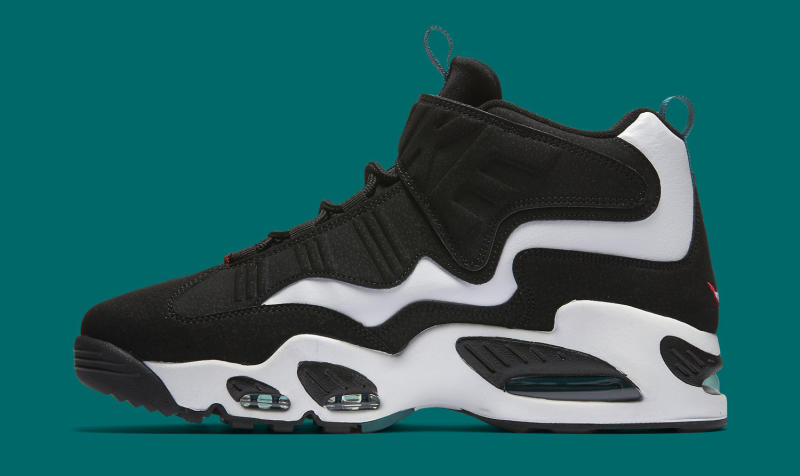 Nike Air Griffey Max 1. Color: White/Black-Freshwater-Varsity Red Style #:  354912-105. Price: $150