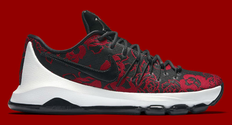 Nike KD 8 Red Floral 806393-004 (2)