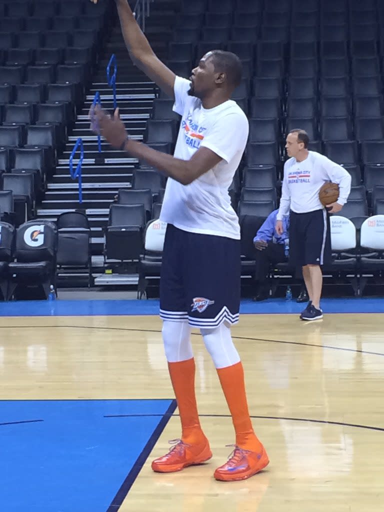 new style fa7de 0ea4d Kevin Durant Wearing the Nike KD 8 Elite High | Sole Collector