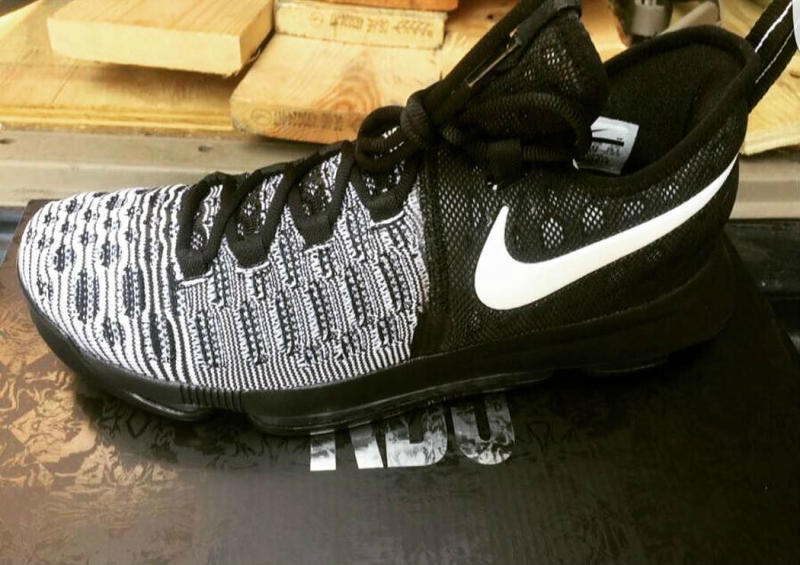 outlet store 7566b a9006 Nike KD 9 Oreo Black White 843392-010