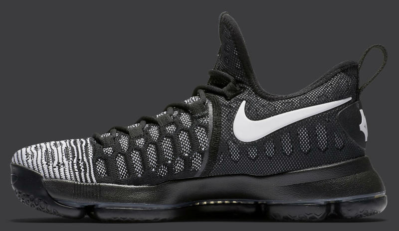 new styles 1e975 cccb1 Nike KD 9 Black/White Release Date 843392-010 | Sole Collector