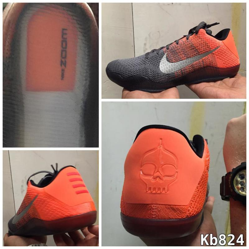 new product 34b69 a83d3 Nike Kobe 11 Grey Orange (2)
