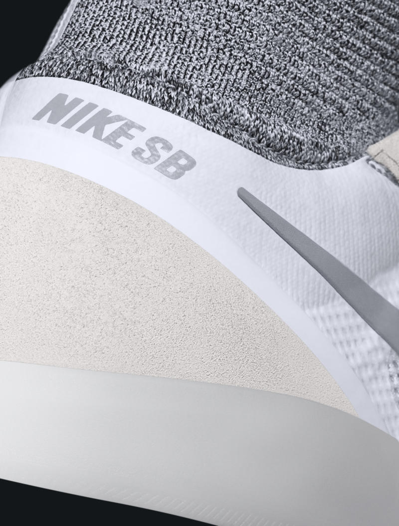 The Koston 3's tech doesn't stop at Flyknit. Also unique here is the use of  Hyperfeel, a technology first seen on 2013's Nike Free Hyperfeel.