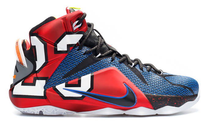 """new style a8c25 a787f Rather than simply mashing up previous colorways of the silhouette, the  LeBron 12 """"What The"""" took a different approach by incorporating nods to  LeBron s ..."""