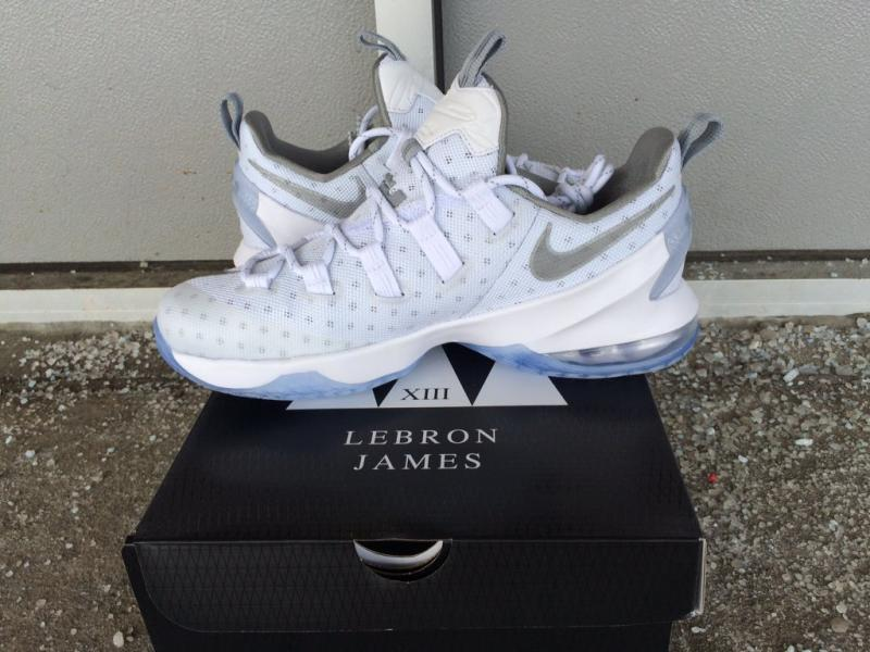 Nike LeBron 13 Low White/Silver 831925-100 (2)