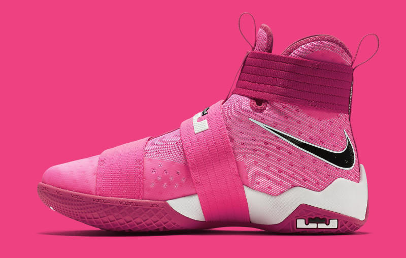 nike lebron soldier 10 think pink sole collector
