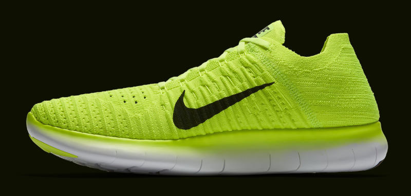 nike bright yellow running shoes olympics