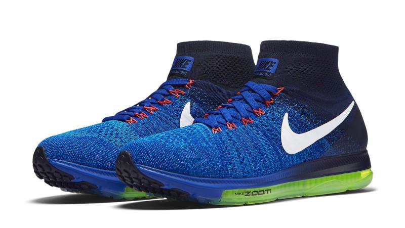 c4521676d002 Nike Zoom All Out Flyknit Racer Blue Blue Glow Obsidian White