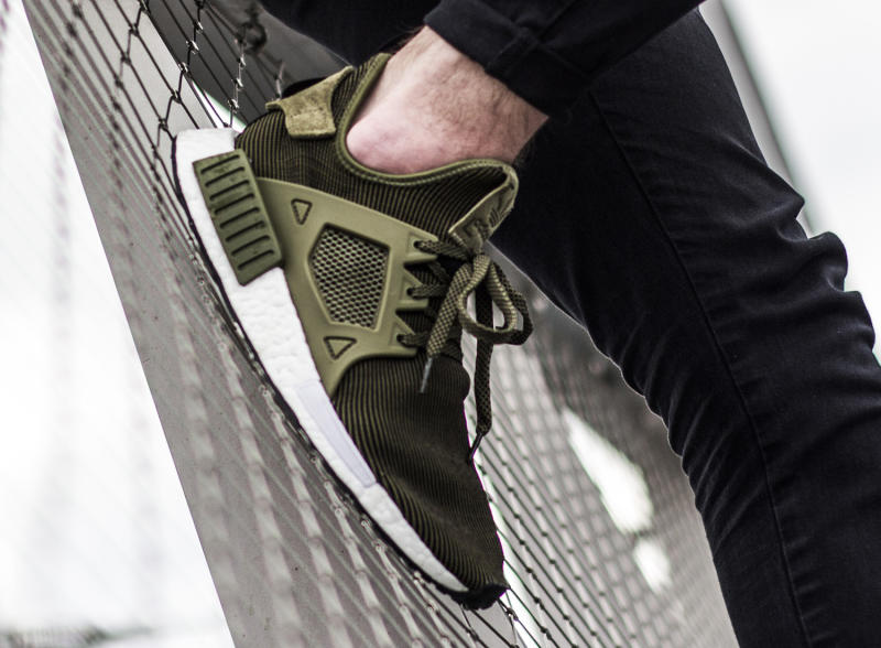 Adidas NMD XR 1 Olive and Gray crepsource