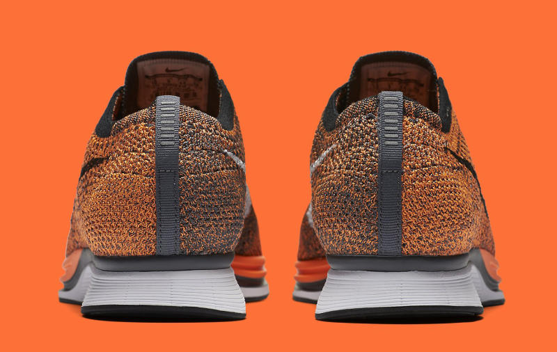 orange nike flyknit
