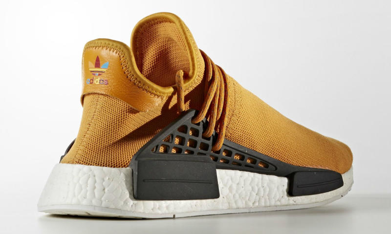 Orange Pharrell Adidas Nmd Human Race Tangerine Sole