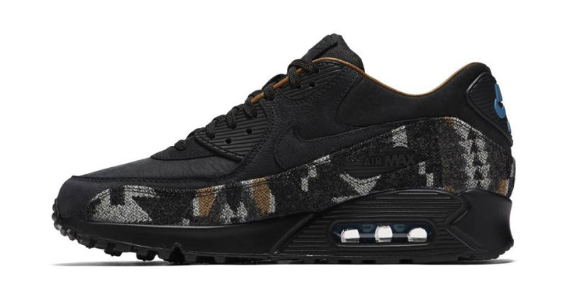 nike air max 90 black with white spots