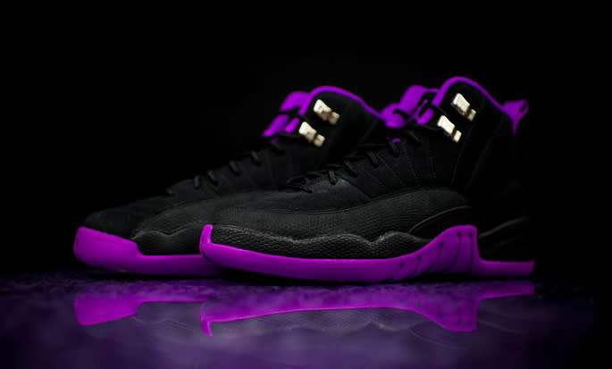 Air Jordan Black And Purple 12s