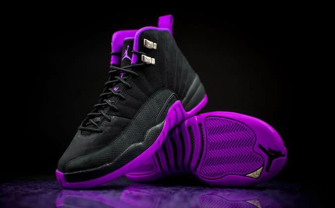 Jordan Black And Purple Shoes