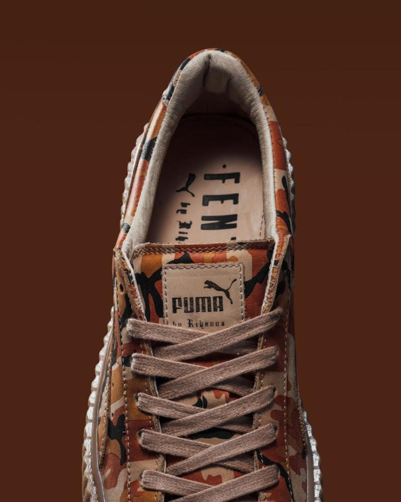 Rihanna x Puma Creeper Orange Camo (3)