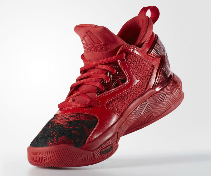 a09519cbe23 The adidas D Lillard 2 Wears Red for Rose City