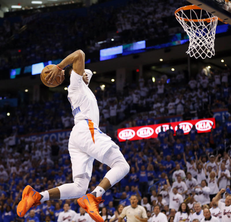 Russell Westbrook Wears Two Air Jordan 30 PEs in Game 3  ca30e1086302