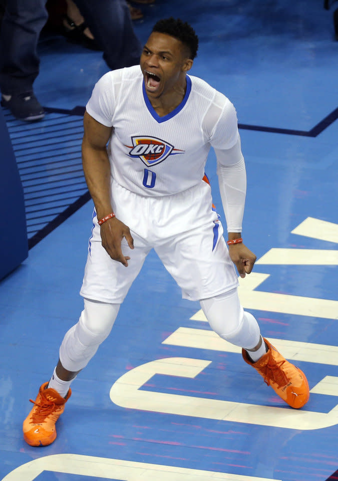 Russell Westbrook Wears Two Air Jordan 30 Pes In Game 3