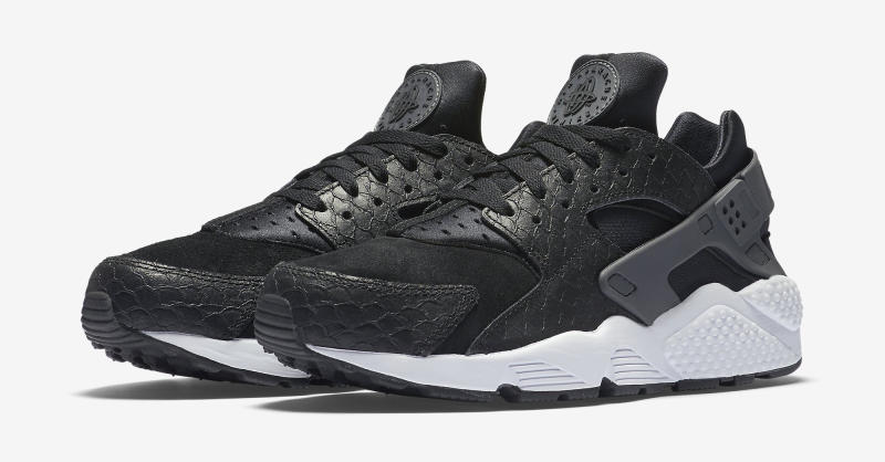 0e5aff9dff0c Nike Air Huarache Run PRM Color  Black Dark Grey-White Style    704830-001.  Price   120
