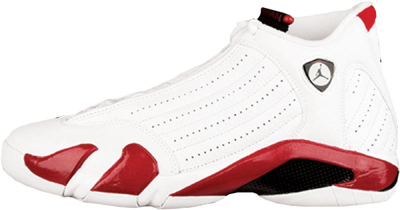 official photos a0d27 e70f5 Air Jordan 14 Retro Colorway  White Black-Varsity Red Release Date  01 14 2006.  Original Price   150. Average Resell Value   277