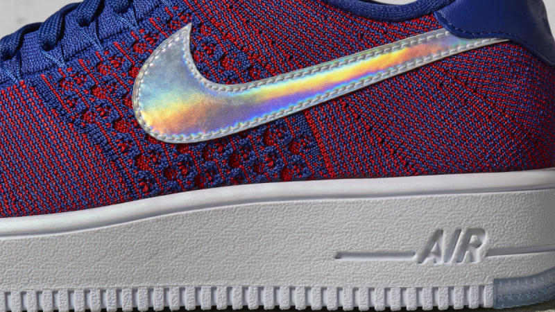 ... USA Nike Air Force 1 Flyknit Ultra Low | Sole Collector; Nike Air Force  1 Low Mini Swoosh USA Release Date 823511 .