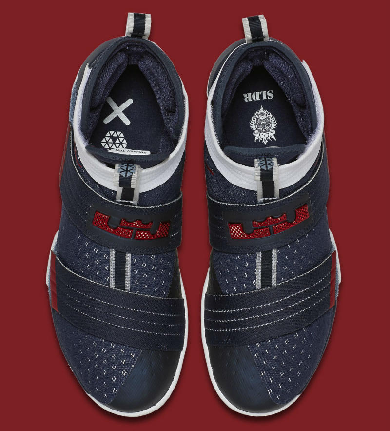 the latest b963a 09c11 Nike LeBron Soldier 10 USA 844379-416 (5)