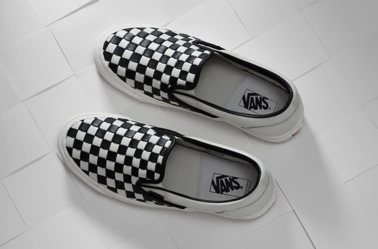 6dc37ecd1 Vans Rebuilds Iconic Checkered Sneakers With Woven Leather