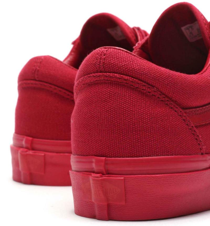 vans old skool triple red