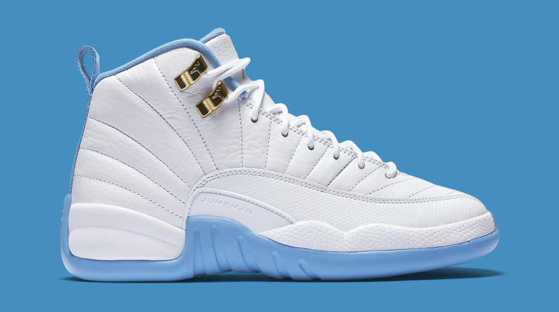 buy popular 7d0c5 4d3eb Air Jordan 12 GS White/Metallic Gold-University Blue | Sole ...