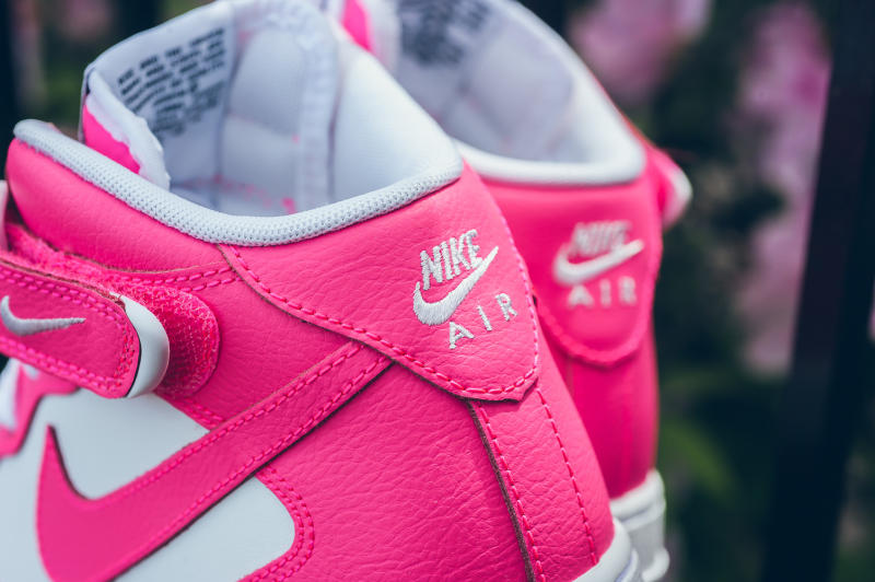 74401b099baec Nike Air Force 1 Mid GS Color: White/Hyper Pink Price: $85