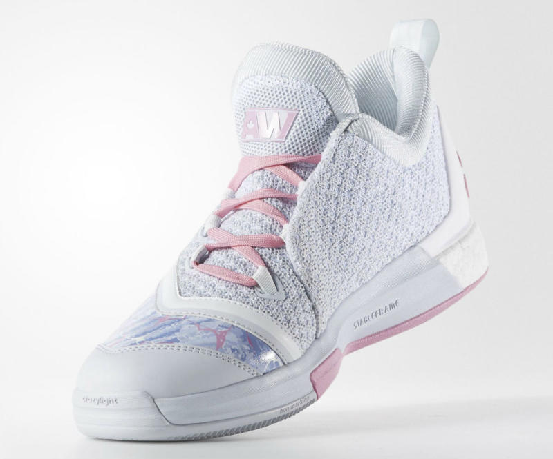 the latest 77824 1a6a8 Andrew Wiggins Easter adidas Crazylight Boost 2.5 (5)